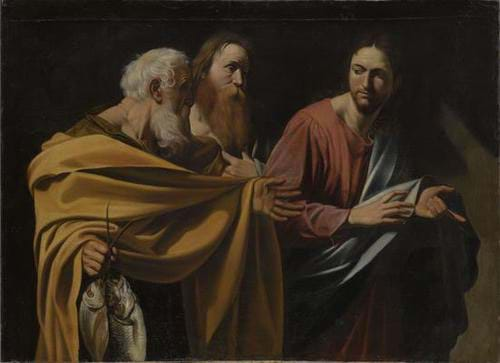 The Calling of Saints Peter and Andrew, Caravaggio (c. 1603-1606)