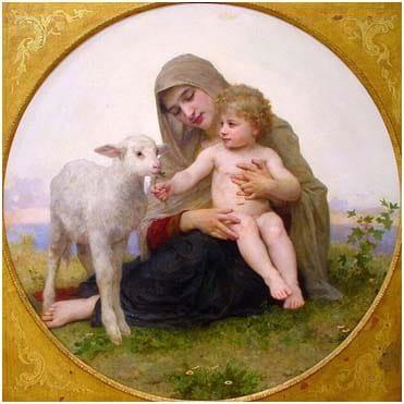 La Vierge à L'agneau (Virgin and Lamb), William-Adolphe Bouguereau (1903)