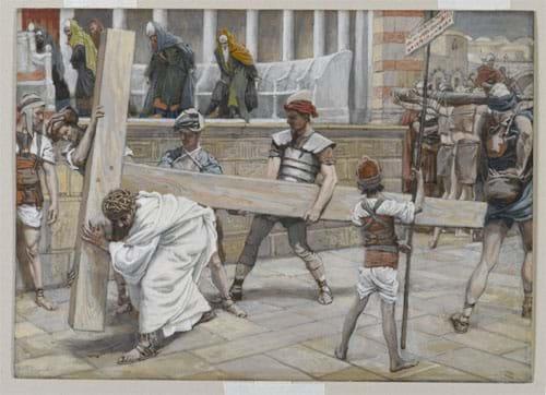 Jesus Bearing His Cross, by James Tissot (1836-1902)