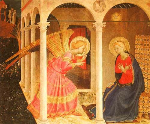 Mary's Annunciation by the Angel