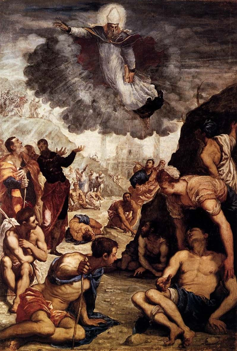 The Miracle of St Augustine by Jacopo Tintoretto