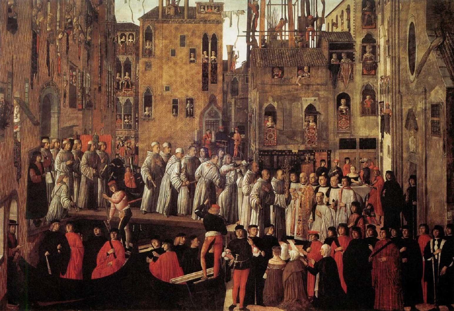 Miracle of the Relic of the Holy Cross in Campo San Lio by Giovanni Mansueti (1494)