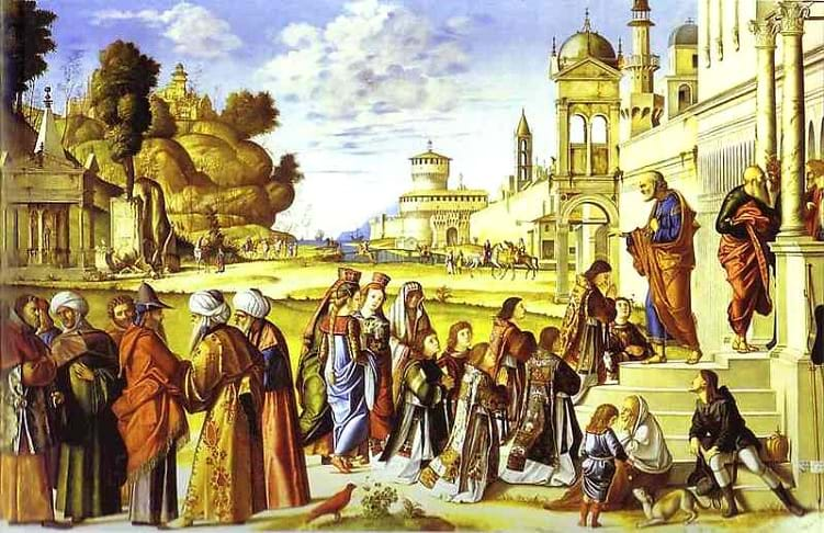 The Ordination of St. Stephan as Deacon by Vittore Carpaccio