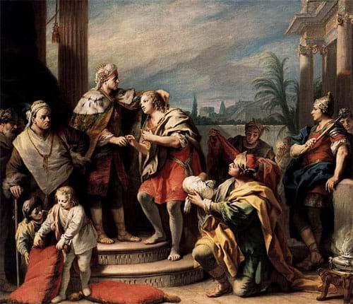Joseph in the Pharaoh's Palace by Jacopo Amigoni