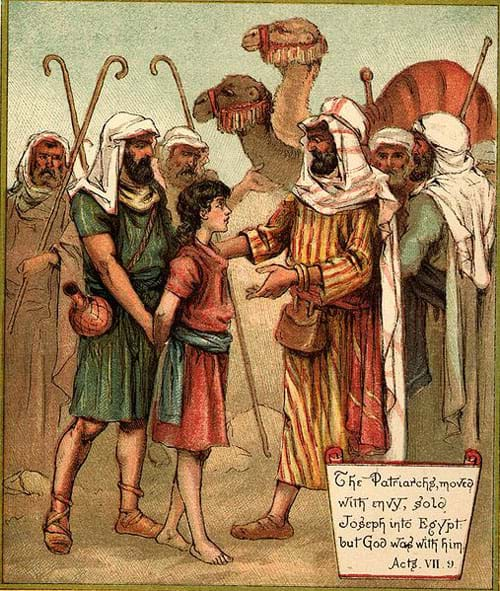 Joseph Sold Into Egypt, The Colored Picture Bible for Children