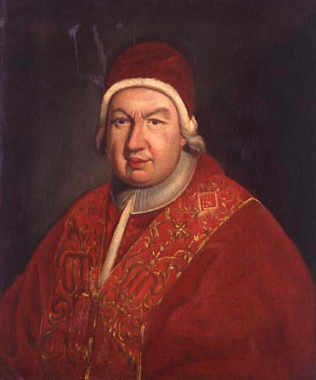 Portrait of Pope Benedetto XIV by Anton Raphael Mengs