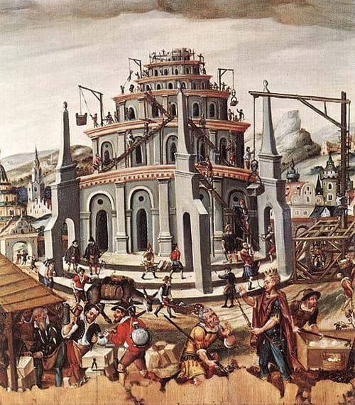 The Tower of Babel by German Unknown Master
