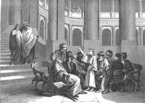 Christ and the Pharisees, by Alexander Bida