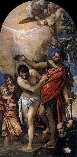 Baptism of Christ by Paolo Veronese
