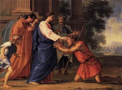 Christ Healing the Blind Man by Eustache Le Sueur