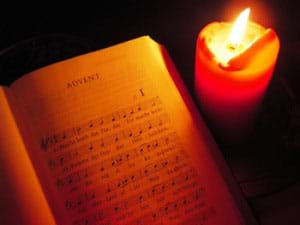 Advent Chant Book with Candle