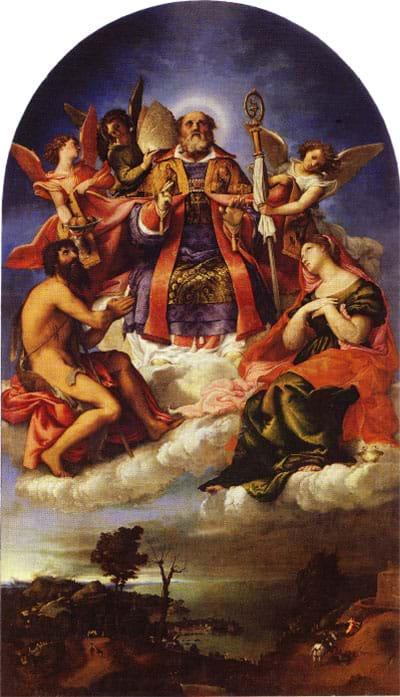 St. Nicholas in Glory, by Lorenzo Lotto, 1527-1529