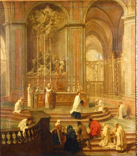 The Mass of Canon Antoine de La Porte or The Altar of Notre Dame, by Jean-baptiste Jouvenet