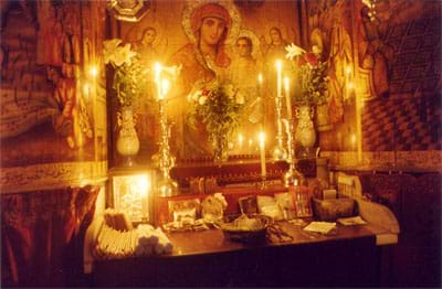 Coptic Marian altar at the Church of the Holy Sepulchre, Jerusalem