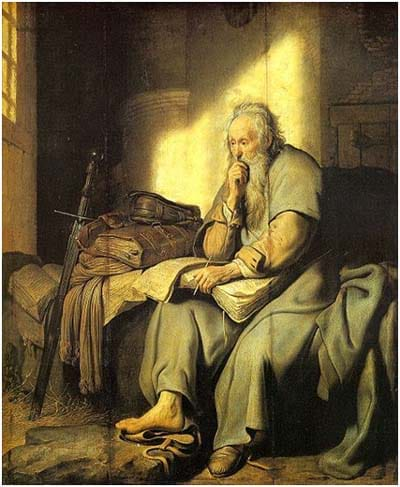 St. Paul in Prison by Rembrandt (1627)