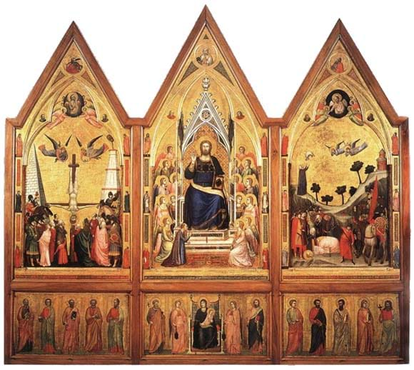 Stefaneschi Polyptych—Back Panel by Giotto (c. 1330)