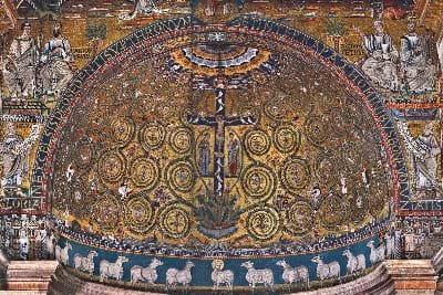 Crucifixion, Apse in the Basilica di San Clemente al Laterano
