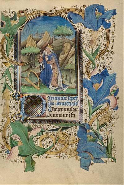 David at Prayer by Guillebert de Mets (c. 1450-55)