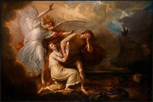 The Expulsion of Adam and Eve from Paradise by Benjamin West (1791)