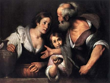 Prophet Elijah and the Widow of Sarepta by Bernardo Strozzi (1630)