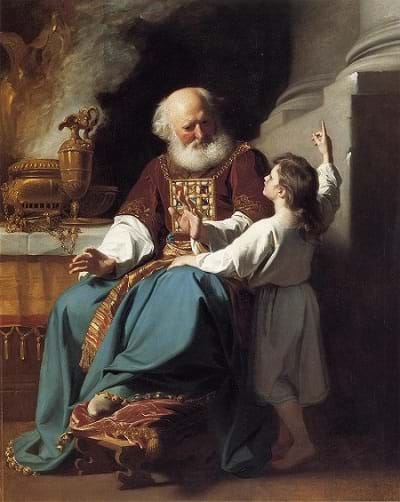 Samuel telling Eli that God spoke to him