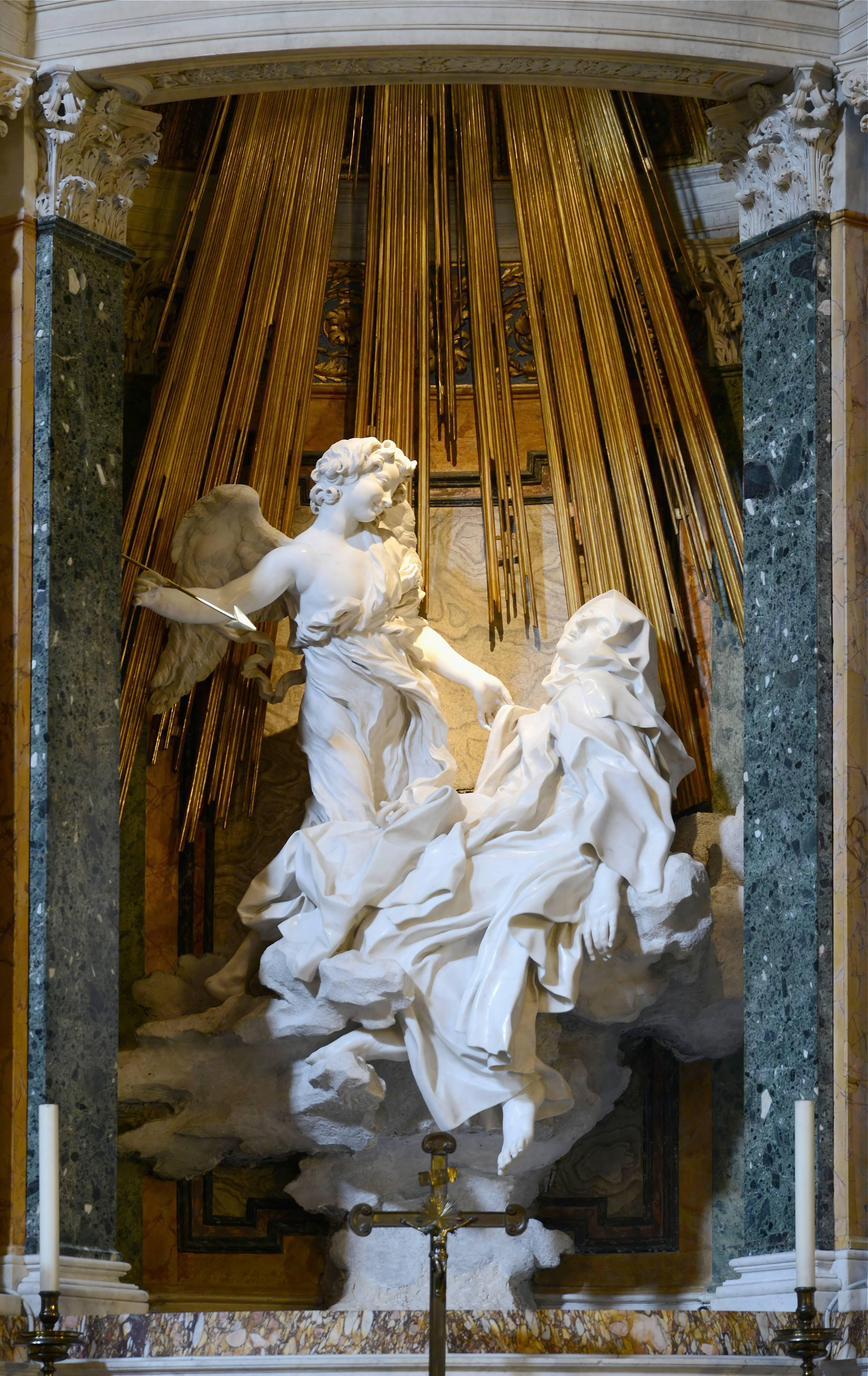 Ecstasy of Saint Teresa, by Gian Lorenzo Bernini,  1647 – 1652